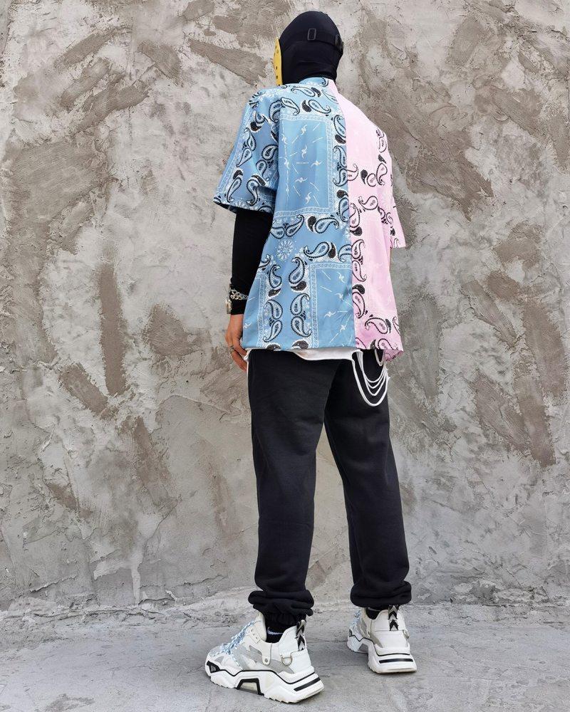 ハーフ&ハーフペイズリー半袖シャツの画像4