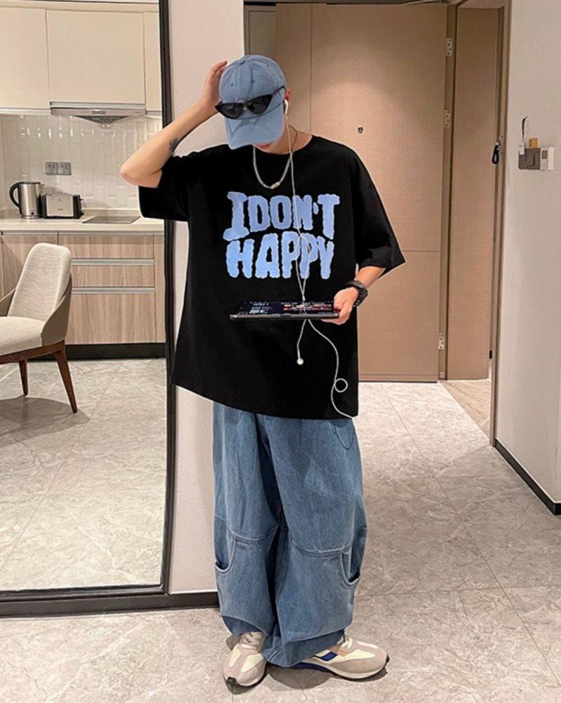 《2色》I DON'T HAPPY Tシャツの画像4
