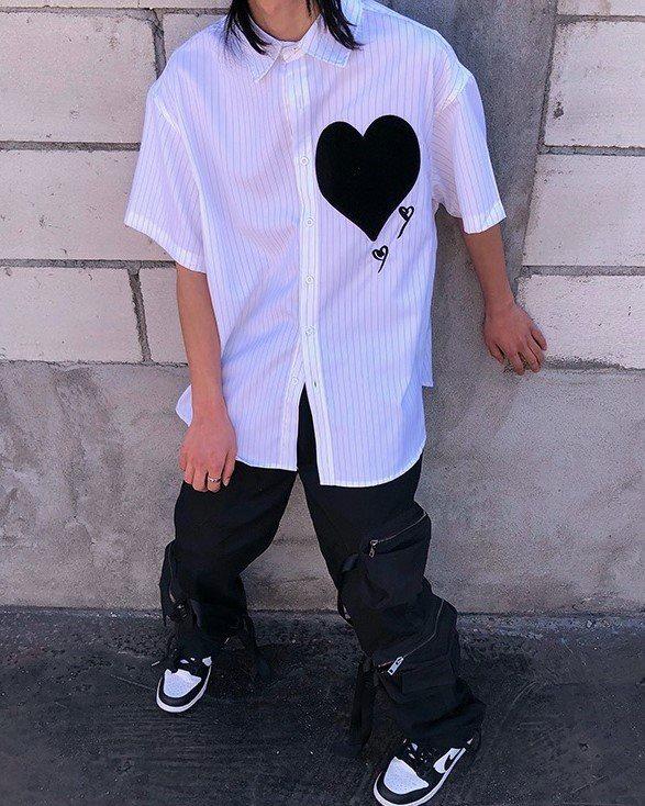 ビッグハートストライプ半袖シャツの画像7