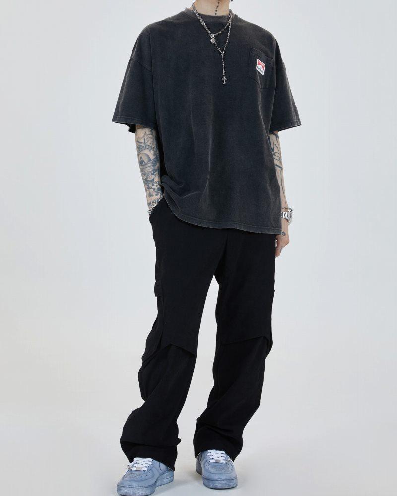 《2色》オーバーサイズリブダメージスネークTシャツの画像3