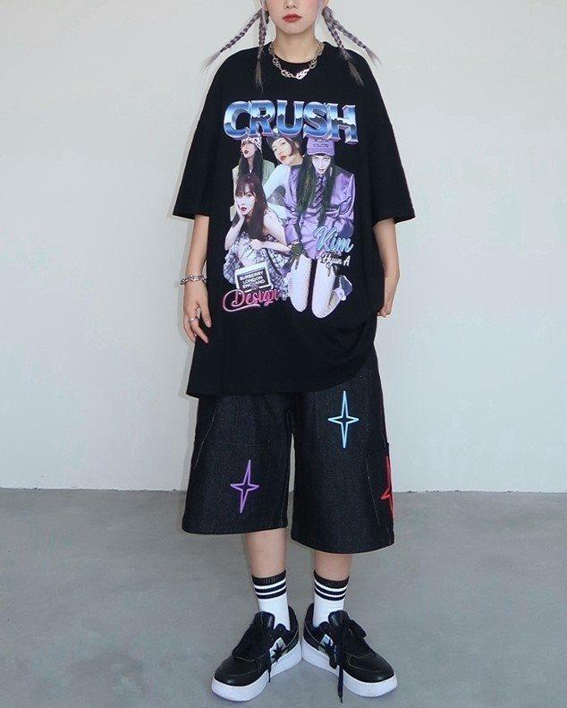 CRUSHガールTシャツの画像3