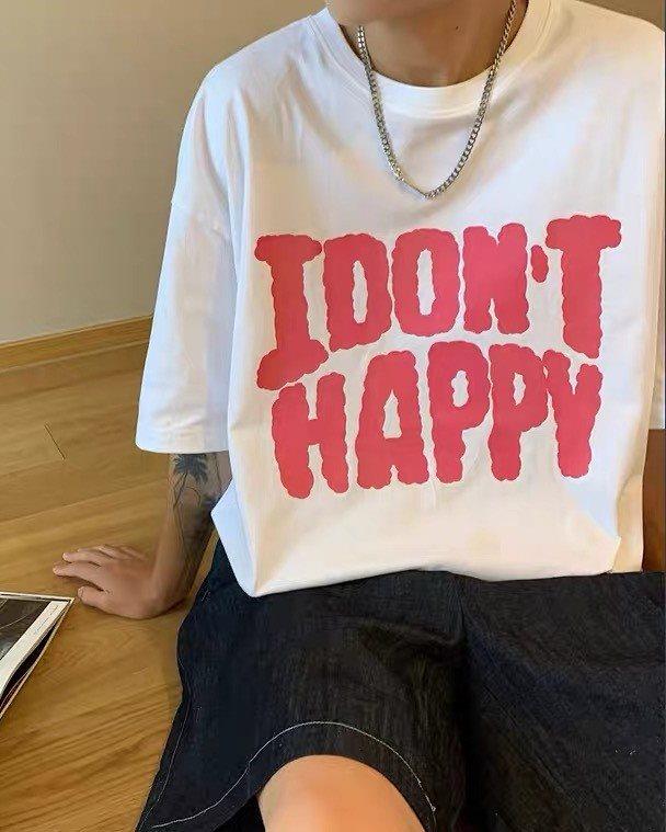 《2色》I DON'T HAPPY Tシャツの画像1