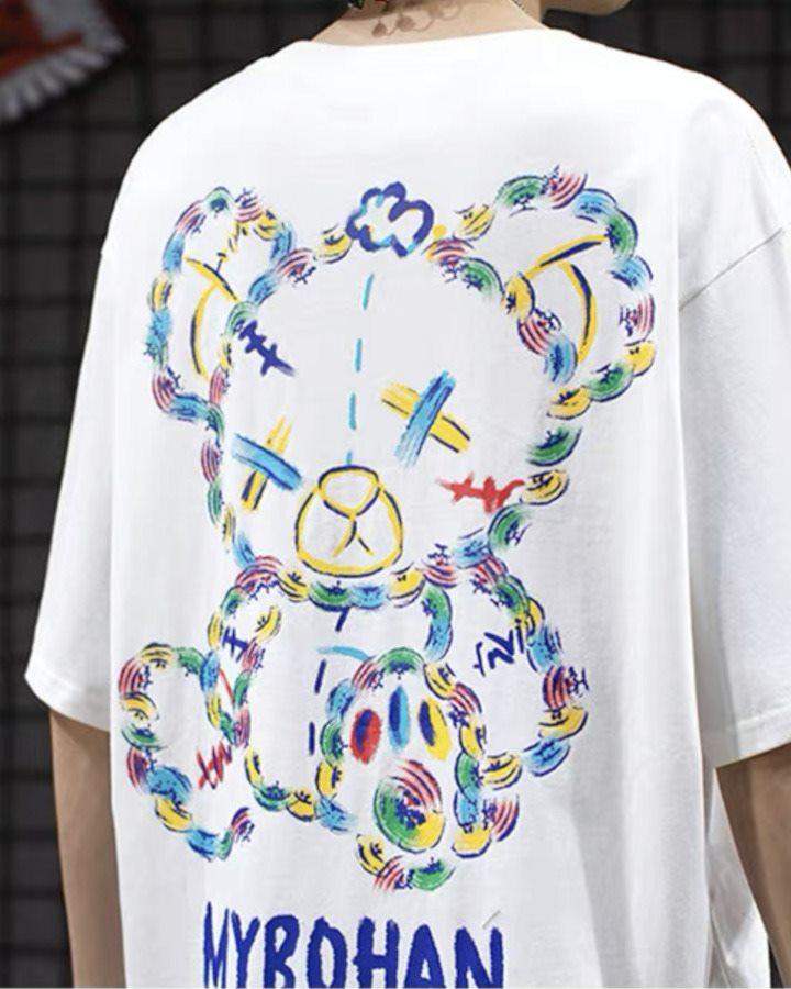 《2色》グラフィカルこてんぱんクマTシャツの画像4
