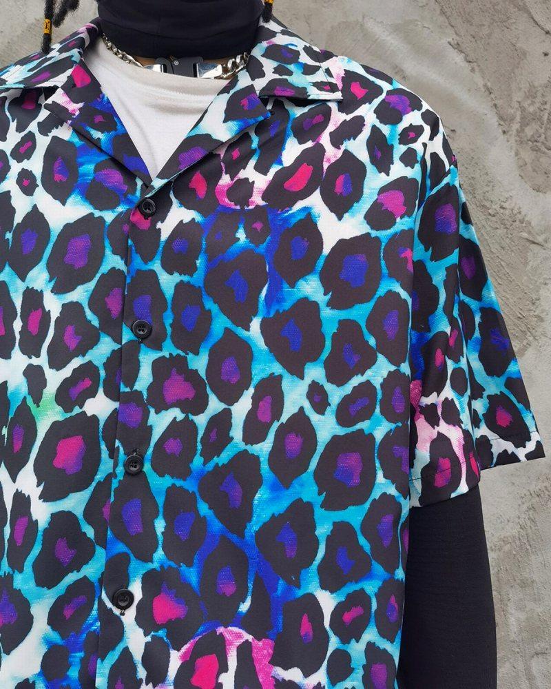 グラデーションレオパード半袖シャツの画像4