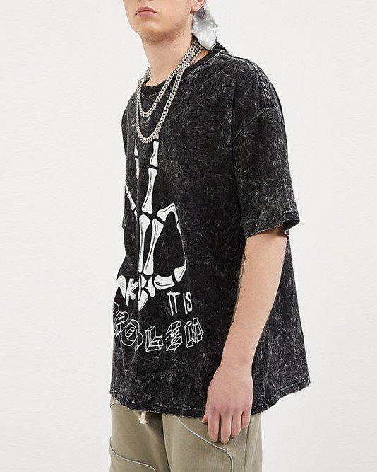 スケルトンハンドTシャツの画像2