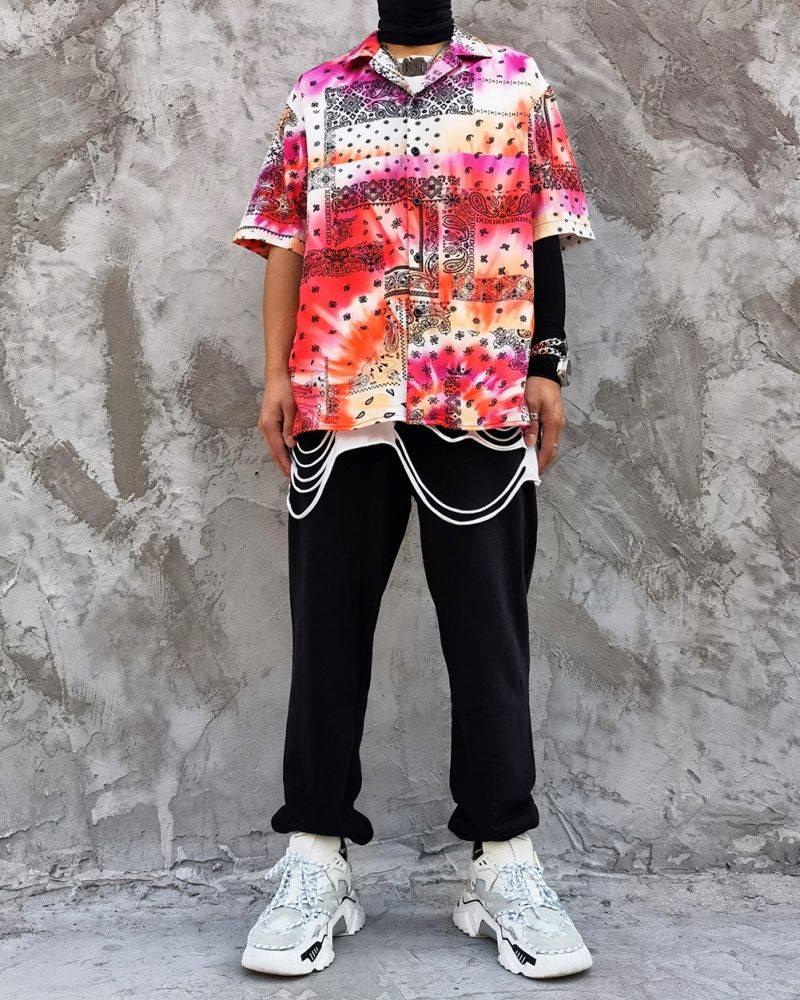 タイダイ柄ペイズリー半袖シャツの画像7