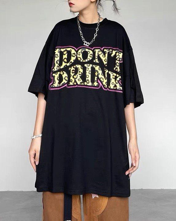 I DON'T DRINK Tシャツの画像2