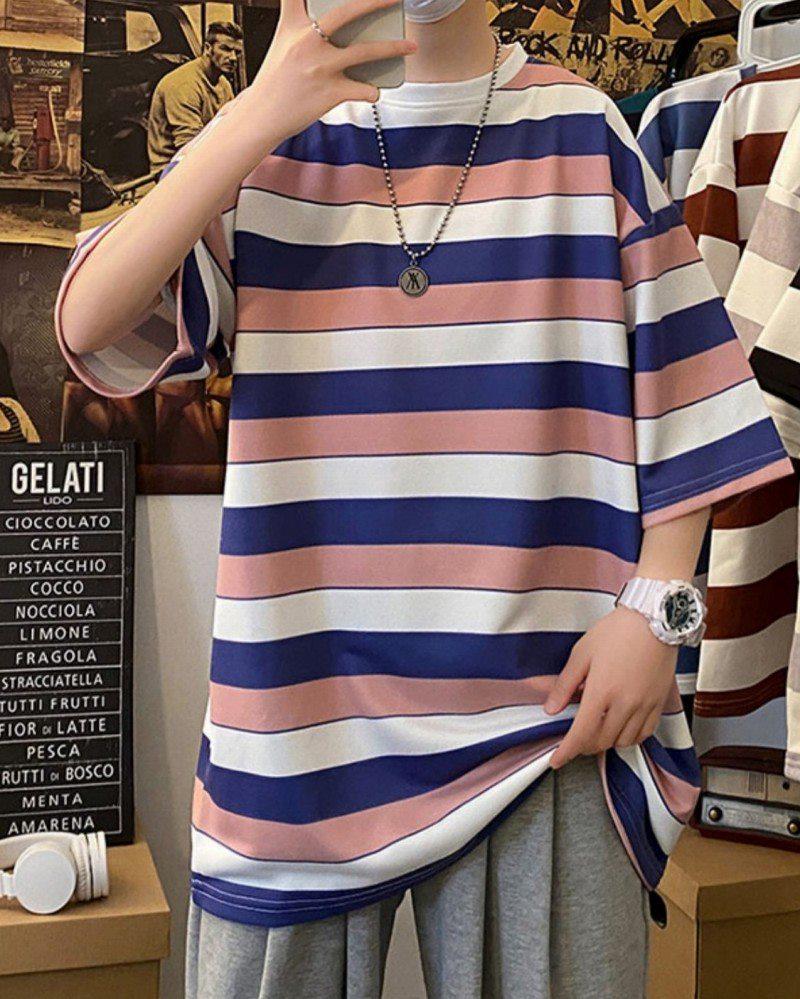 《2色》ビッグシルエットトリコカラーボーダーTシャツの画像4