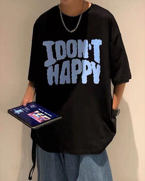 《2色》I DON'T HAPPY Tシャツの画像2