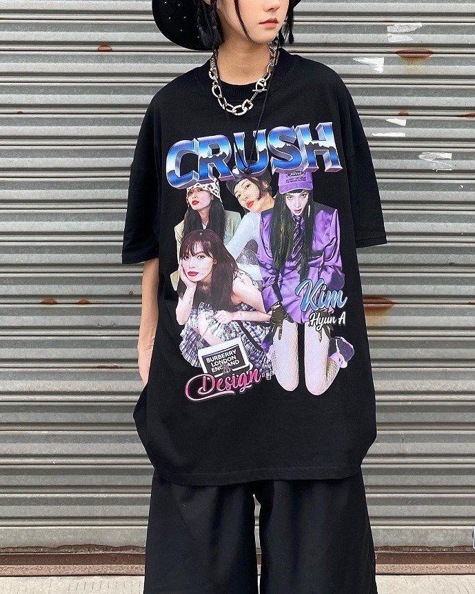 CRUSHガールTシャツの画像1