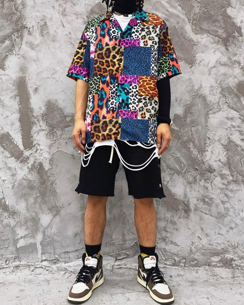 スーパーOBACHAN'Sマルチカラーレオパード半袖シャツの画像3