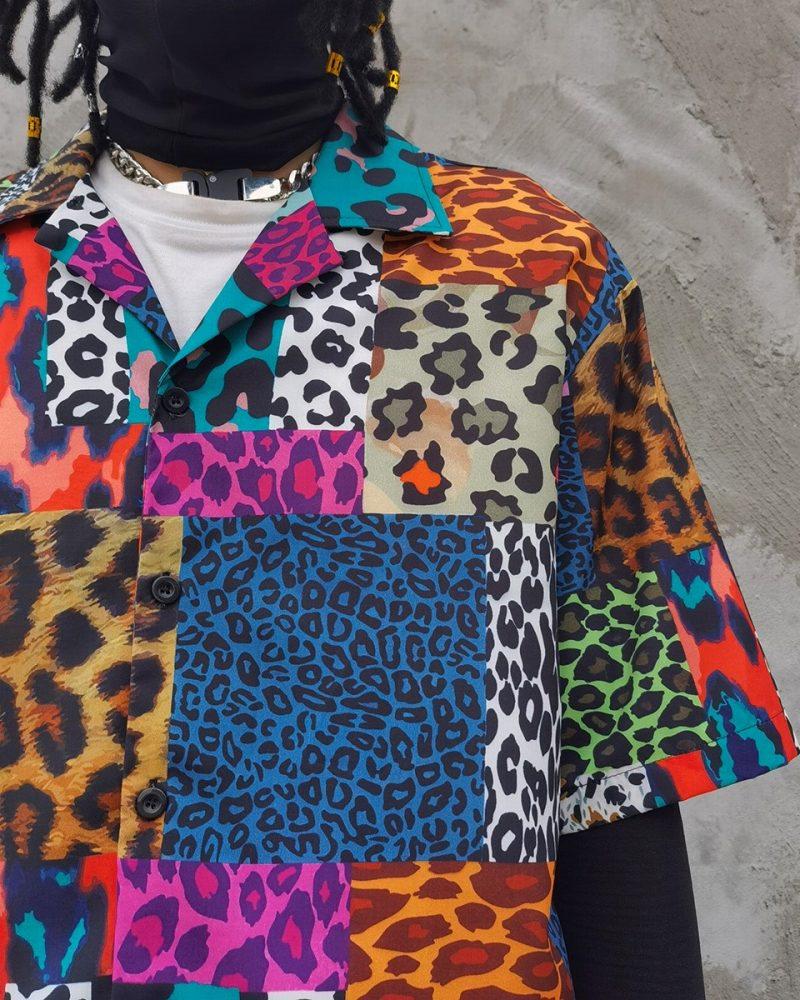 スーパーOBACHAN'Sマルチカラーレオパード半袖シャツの画像4
