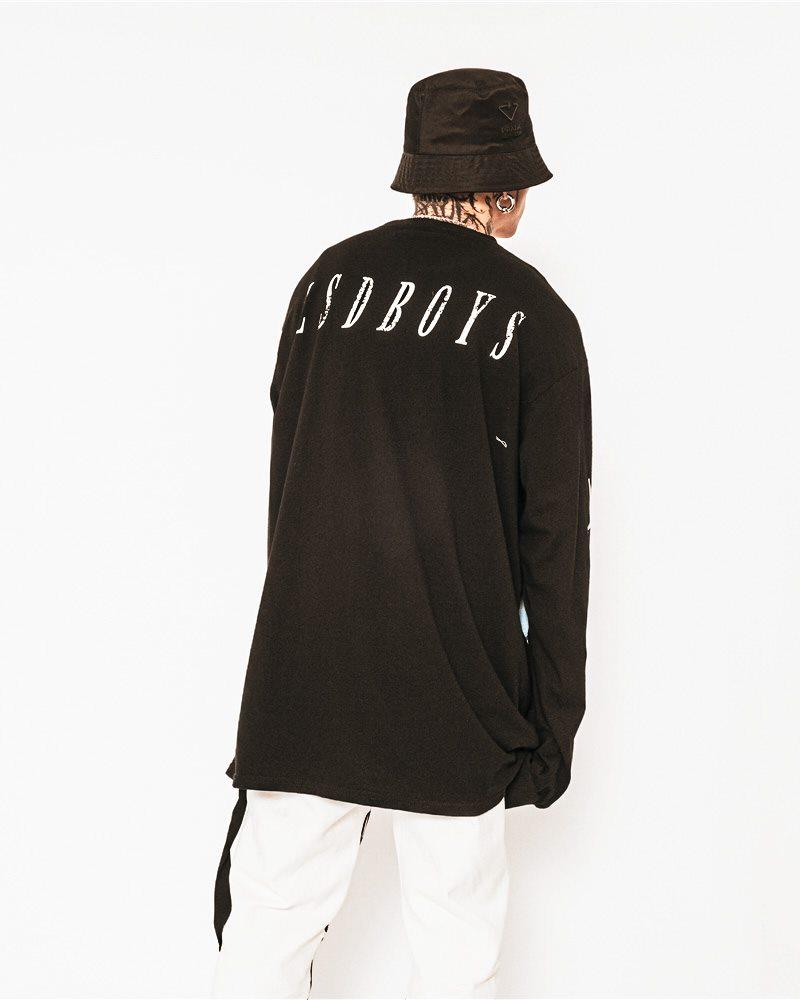 《2色》オーバーサイズトライバルロングTシャツの画像5