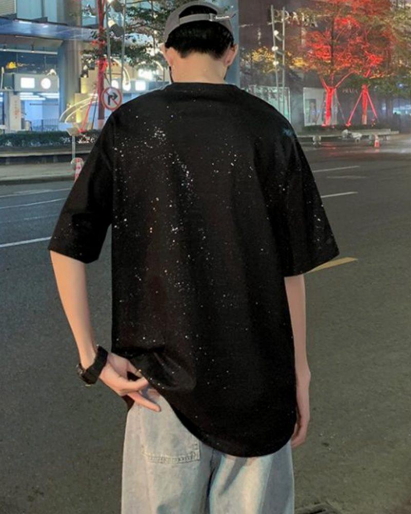 《2色》スプラッシュグリッターTシャツの画像5