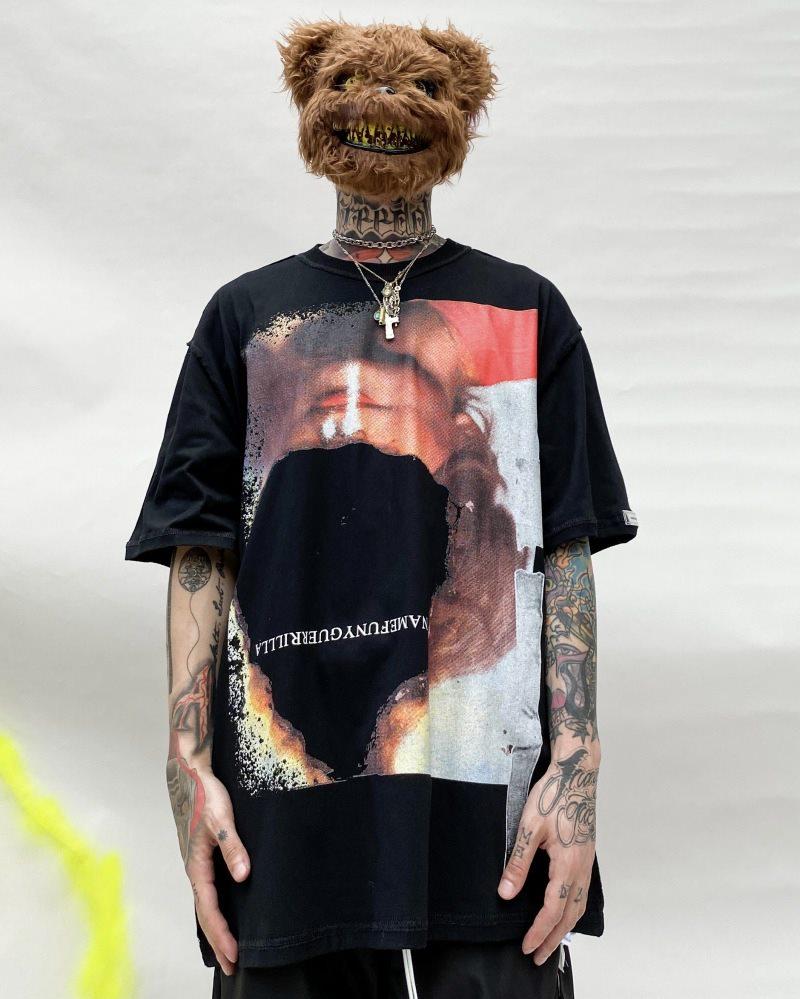 オーバーサイズインサイドアウトTシャツの画像4