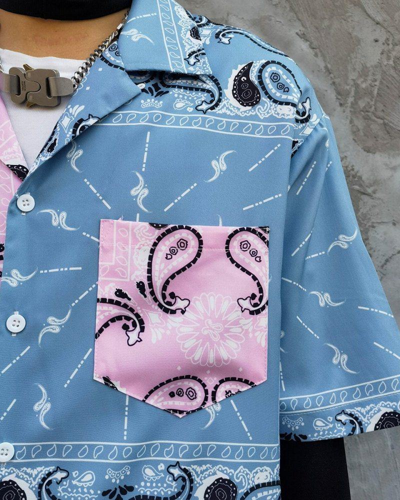 ハーフ&ハーフペイズリー半袖シャツの画像3