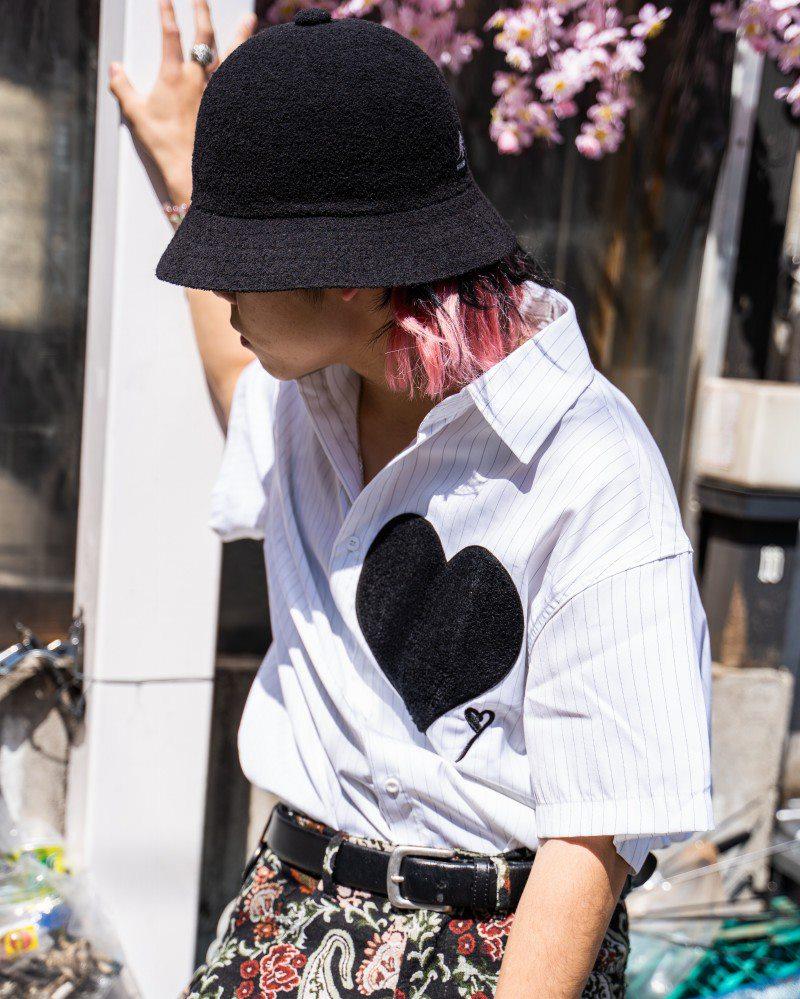 ビッグハートストライプ半袖シャツの画像5