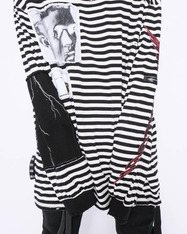 オーバーサイズダメージボーダーロングTシャツの画像6