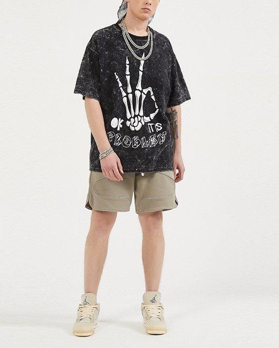 スケルトンハンドTシャツの画像3
