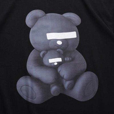 《2色》目隠しクマTシャツの画像3
