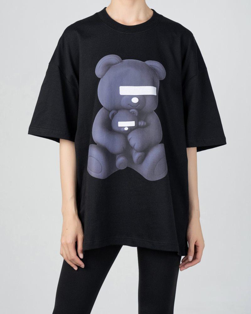 《2色》目隠しクマTシャツの画像2