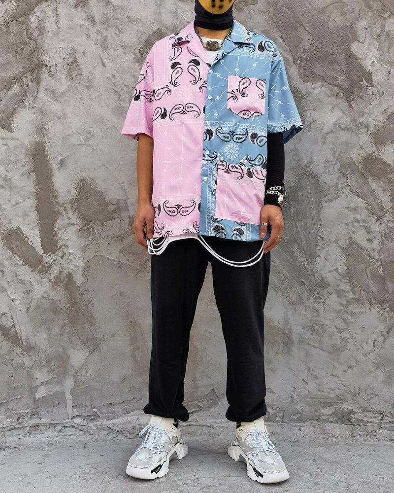 ハーフ&ハーフペイズリー半袖シャツの画像7
