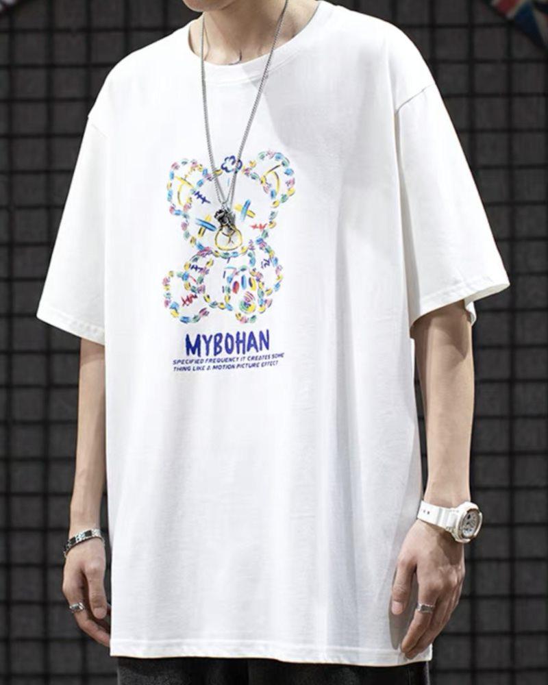 《2色》グラフィカルこてんぱんクマTシャツの画像1