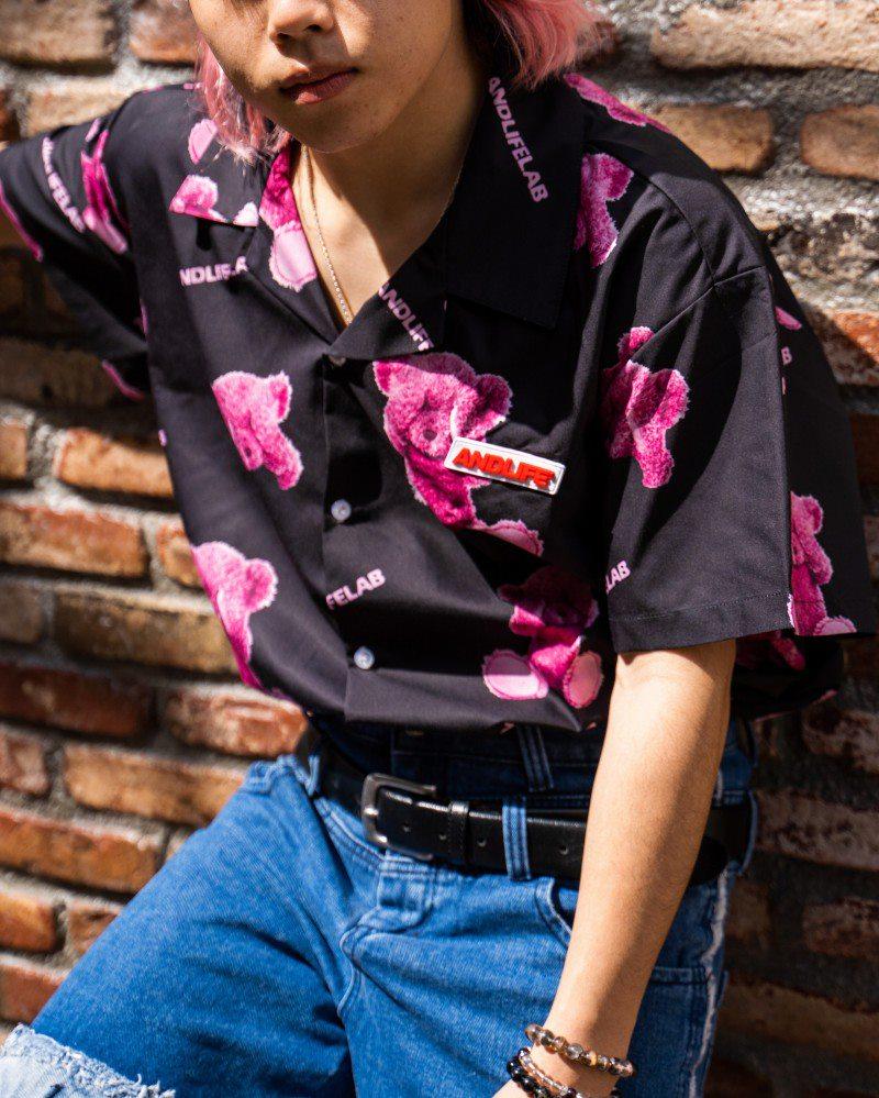 ブラインドクマ半袖シャツの画像1