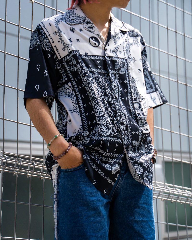 B&Wバンダナ柄ペイズリー半袖シャツの画像2