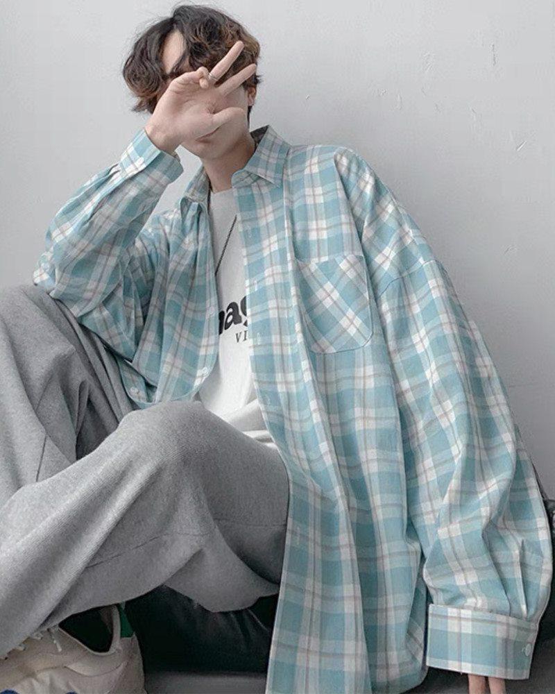 《4色》チェック柄長袖シャツの画像2