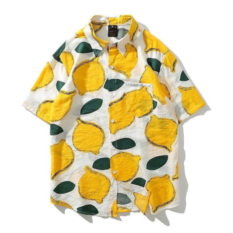レモン柄半袖シャツの画像1