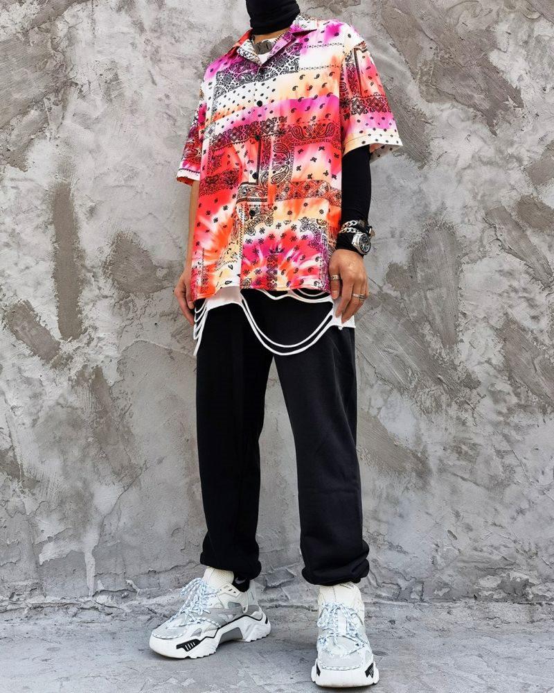 タイダイ柄ペイズリー半袖シャツの画像2