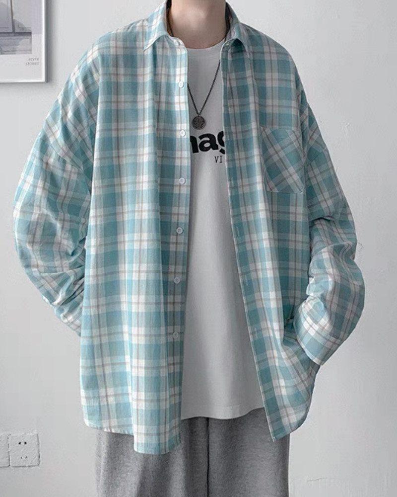 《4色》チェック柄長袖シャツの画像6