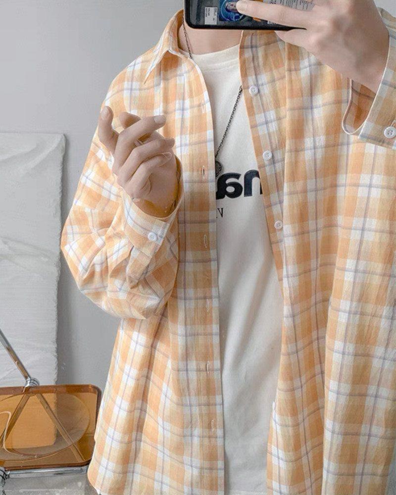 《4色》チェック柄長袖シャツの画像7