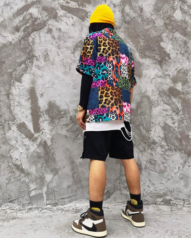 スーパーOBACHAN'Sマルチカラーレオパード半袖シャツの画像2