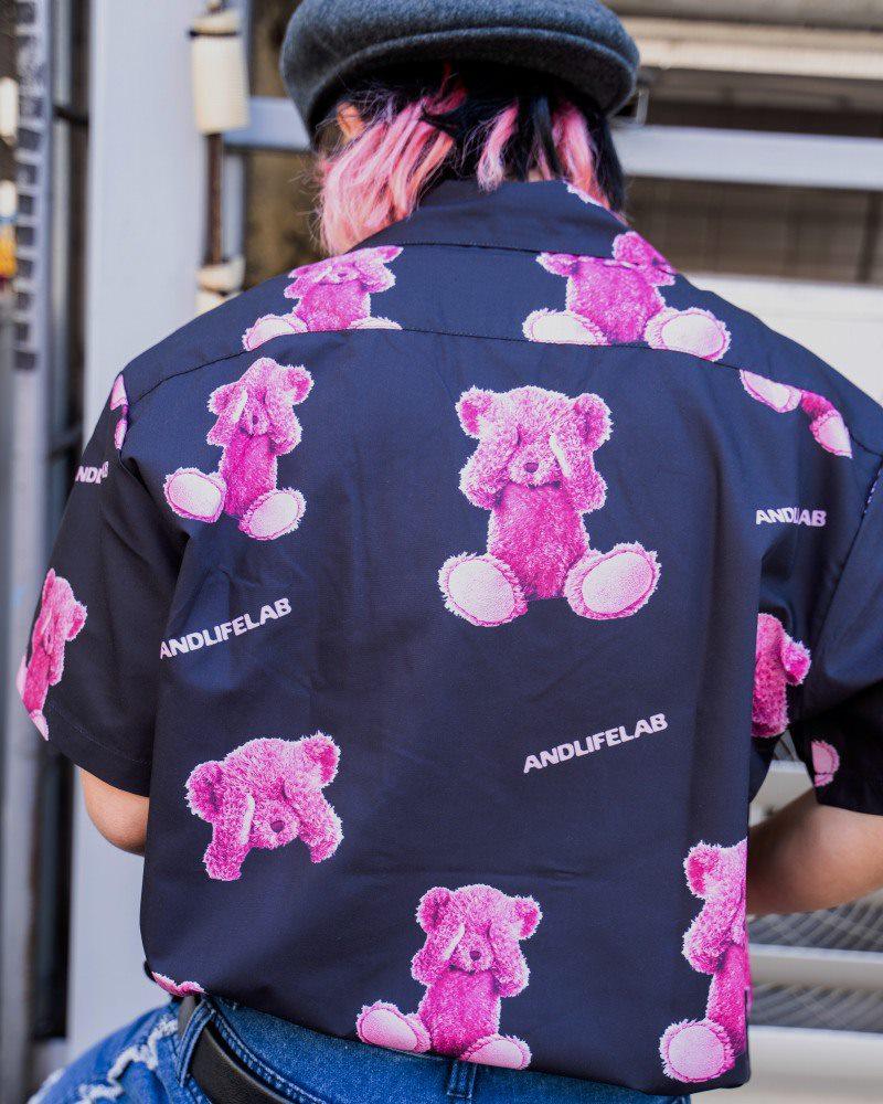 ブラインドクマ半袖シャツの画像4