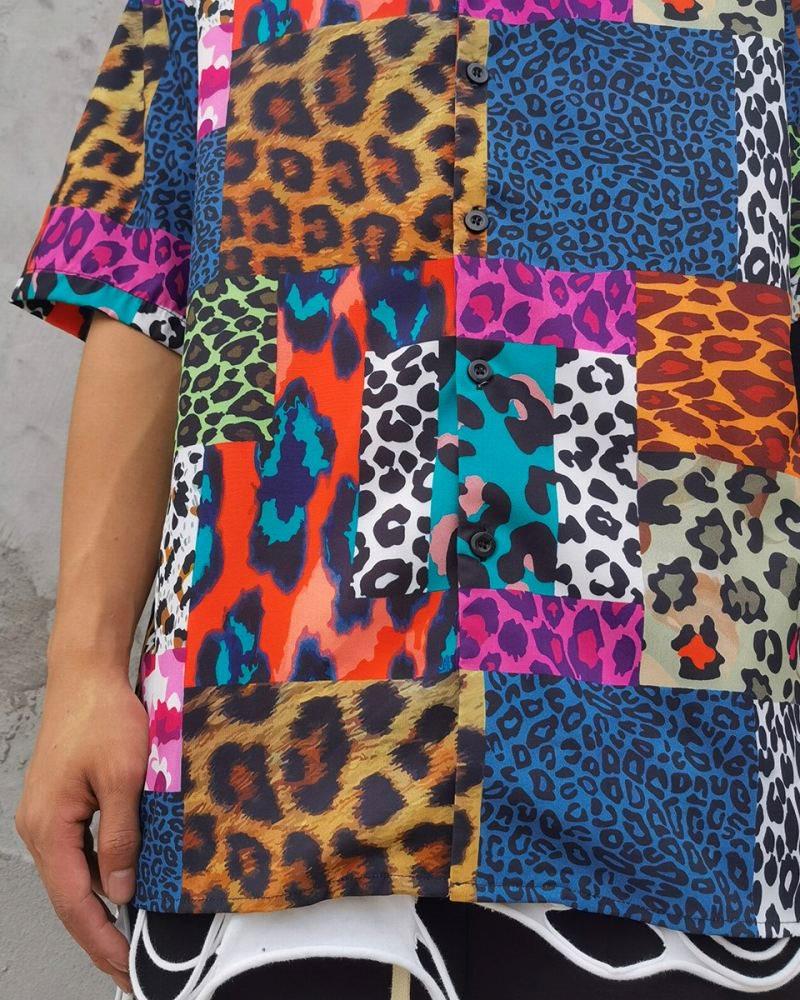 スーパーOBACHAN'Sマルチカラーレオパード半袖シャツの画像5