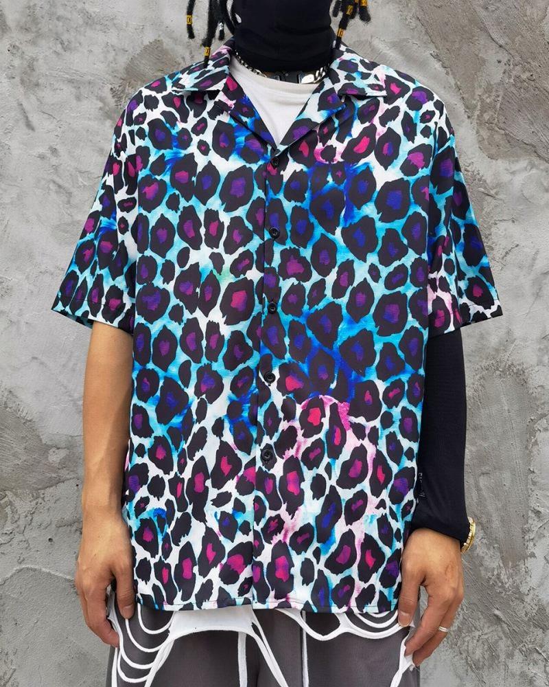 グラデーションレオパード半袖シャツの画像1