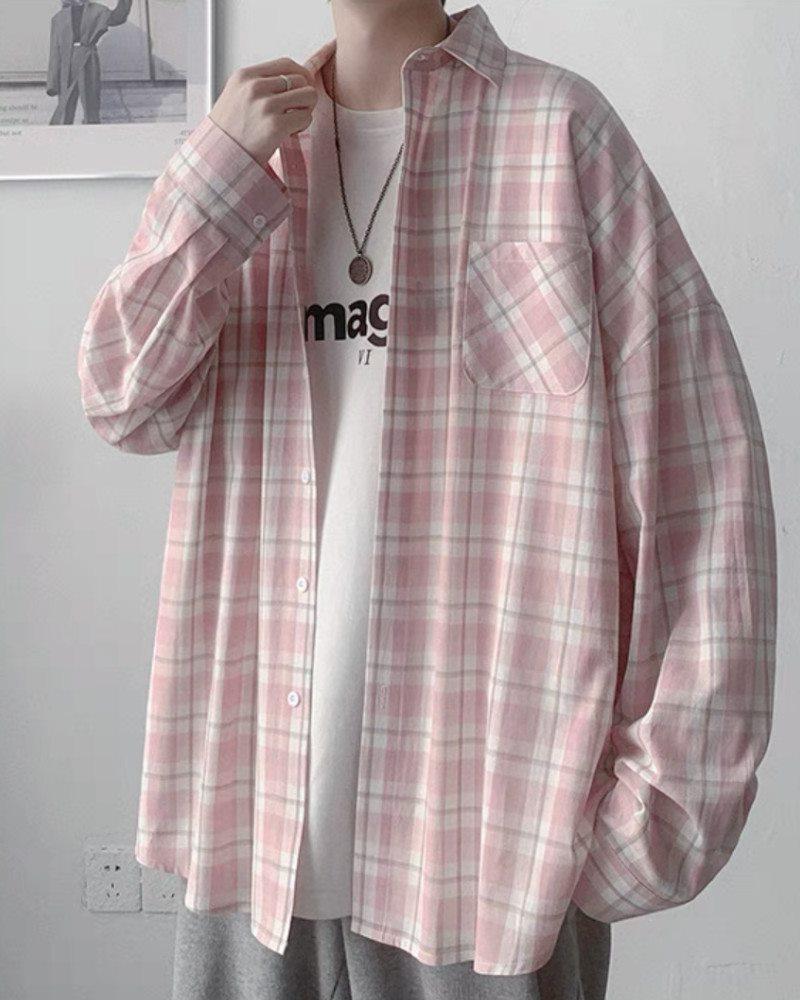 《4色》チェック柄長袖シャツの画像8