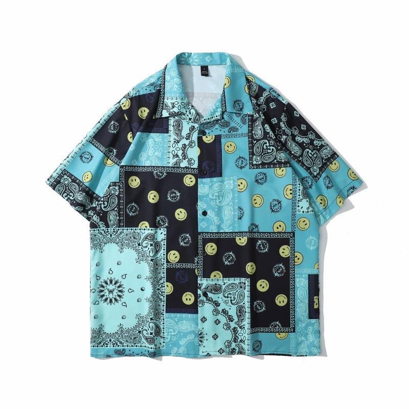 スマイル&ペイズリー半袖シャツの画像1