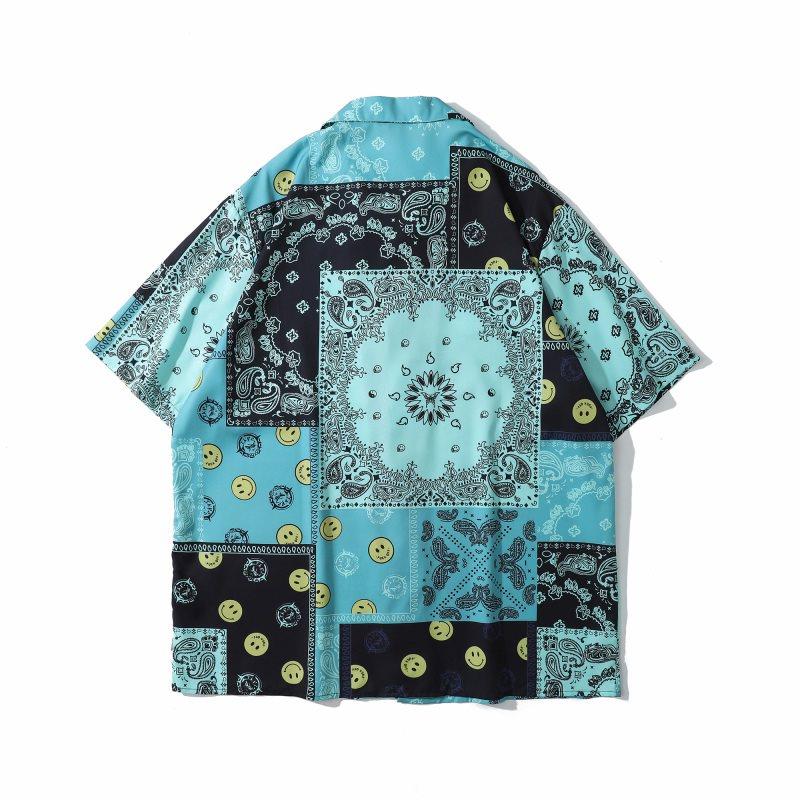 スマイル&ペイズリー半袖シャツの画像2