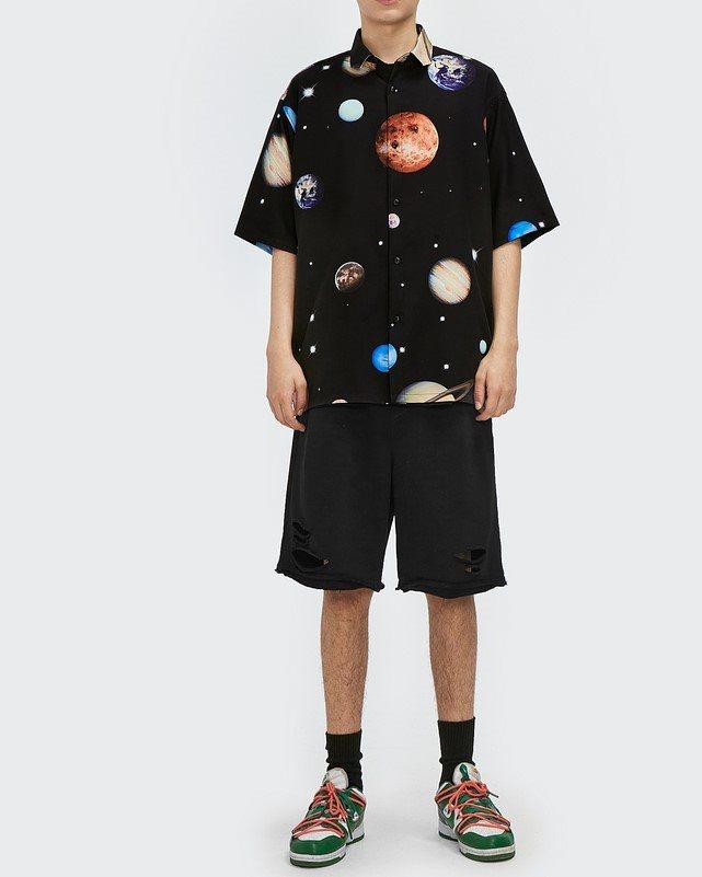 プラネット柄半袖シャツの画像3