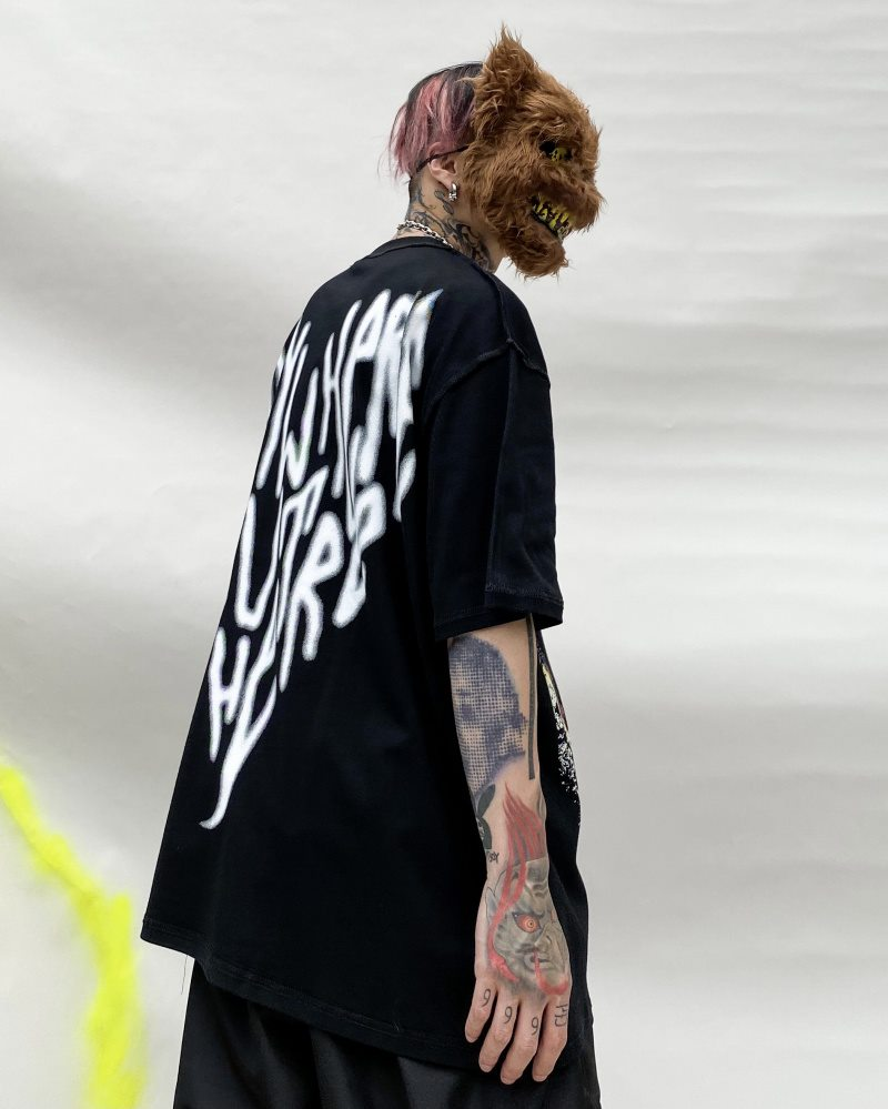 オーバーサイズインサイドアウトTシャツの画像5