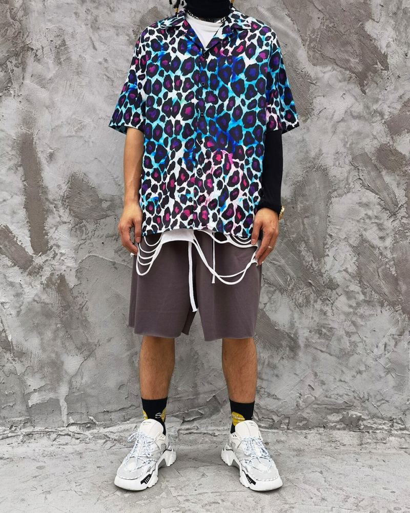 グラデーションレオパード半袖シャツの画像5