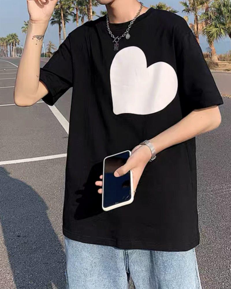 《2色》ビッグハートTシャツの画像3