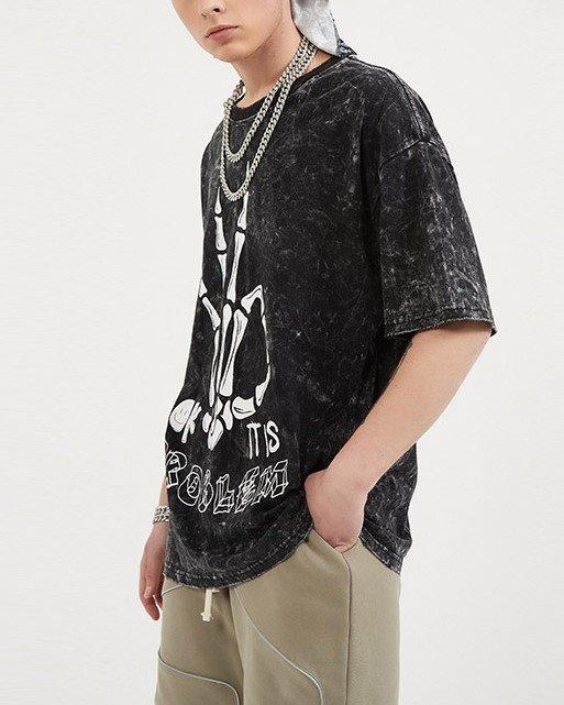 スケルトンハンドTシャツの画像4