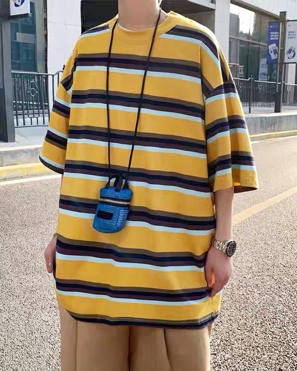 ビッグシルエットイエローボーダーTシャツの画像5