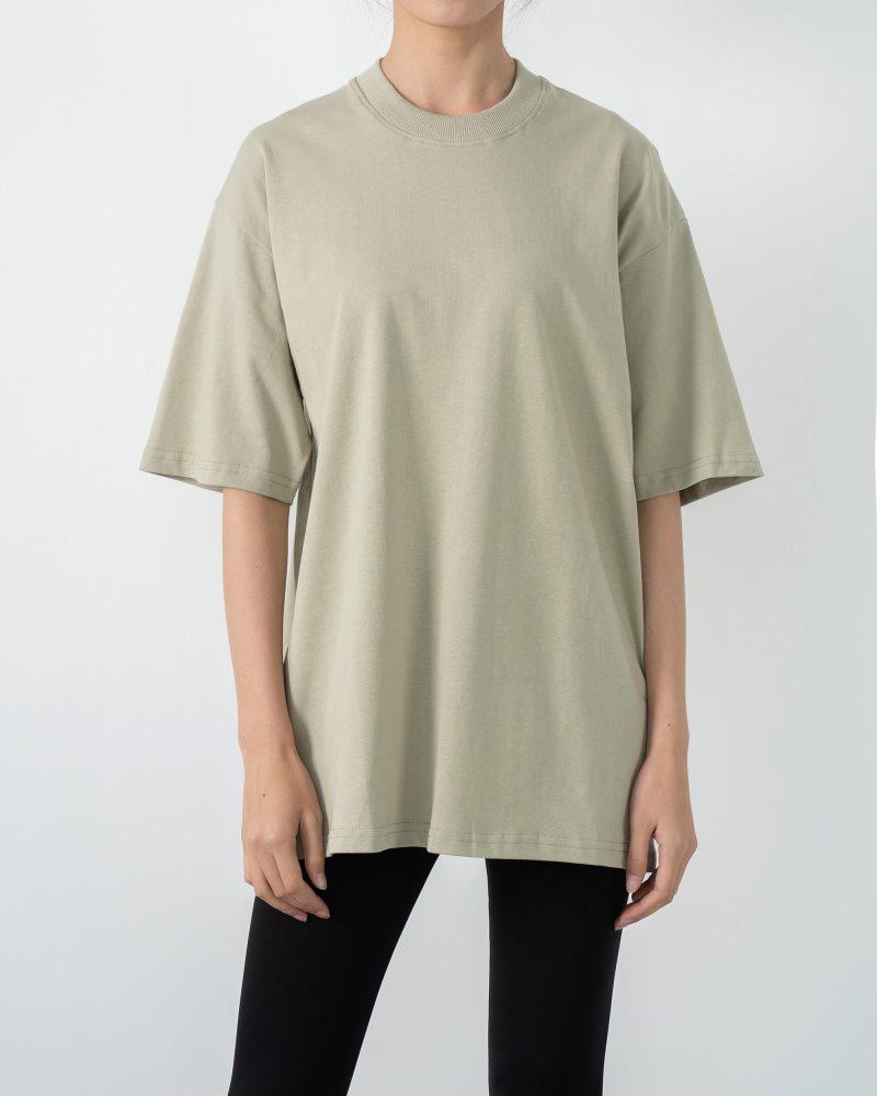 《3色》ベーシックオーバーサイズTシャツの画像1