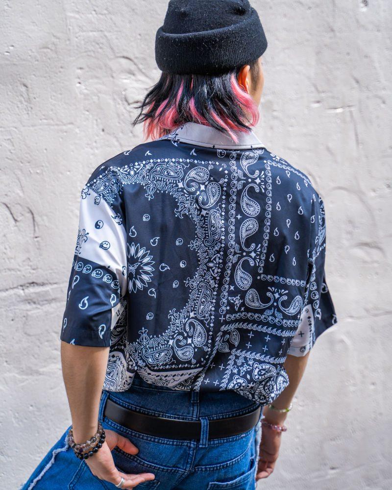 B&Wバンダナ柄ペイズリー半袖シャツの画像3