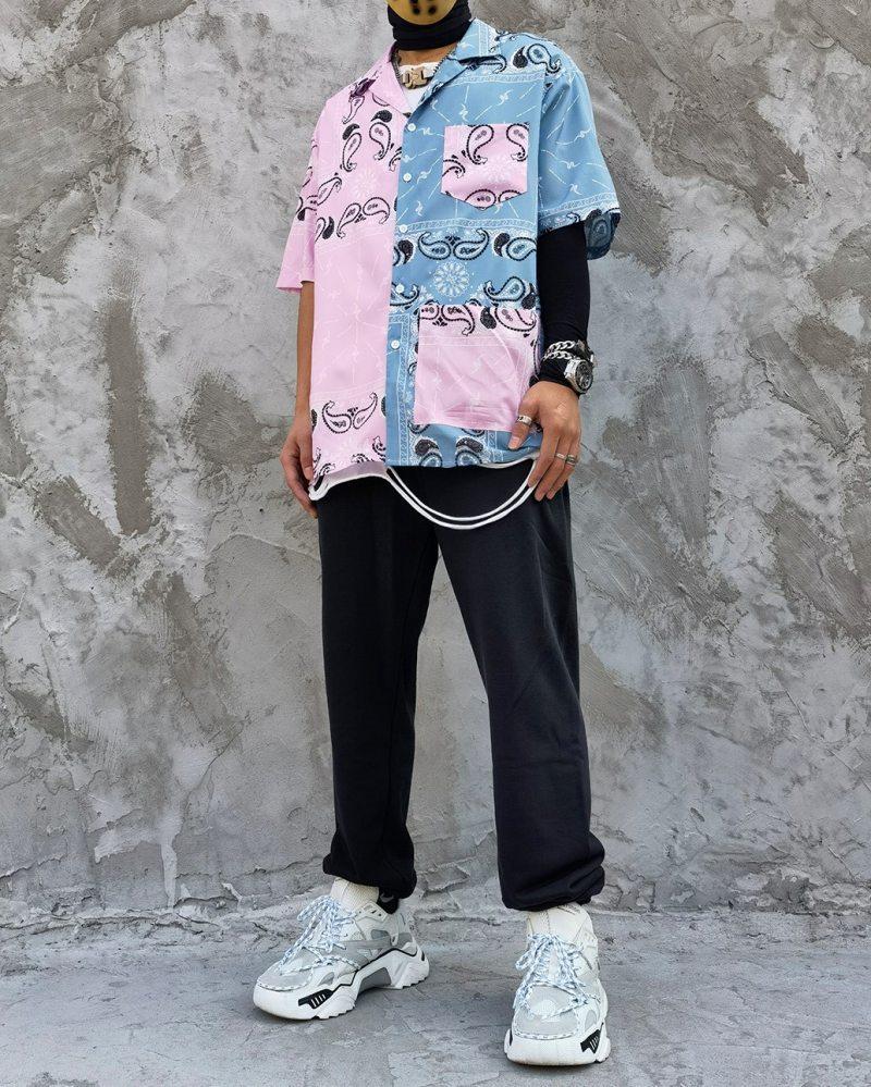 ハーフ&ハーフペイズリー半袖シャツの画像2